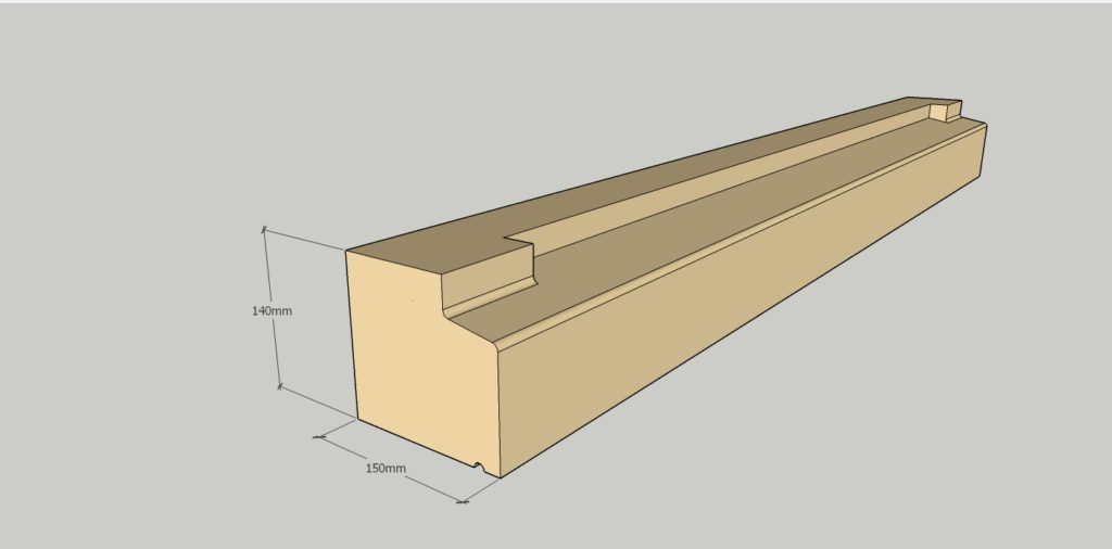 140 x 150mm profile stooled sill